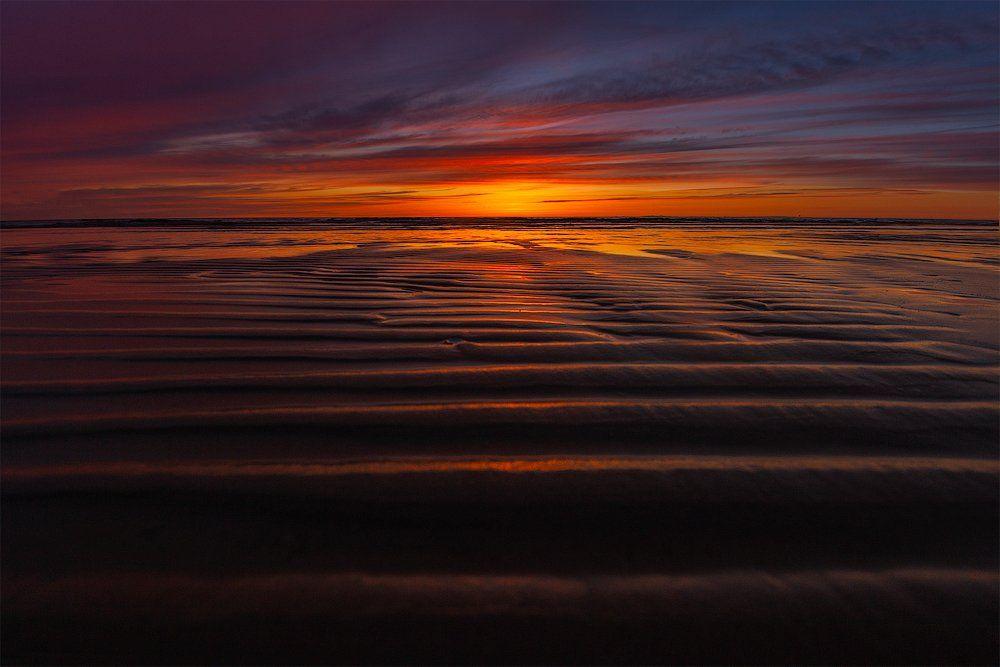 лето, море, закат, Aleksandr Kljuchenkow