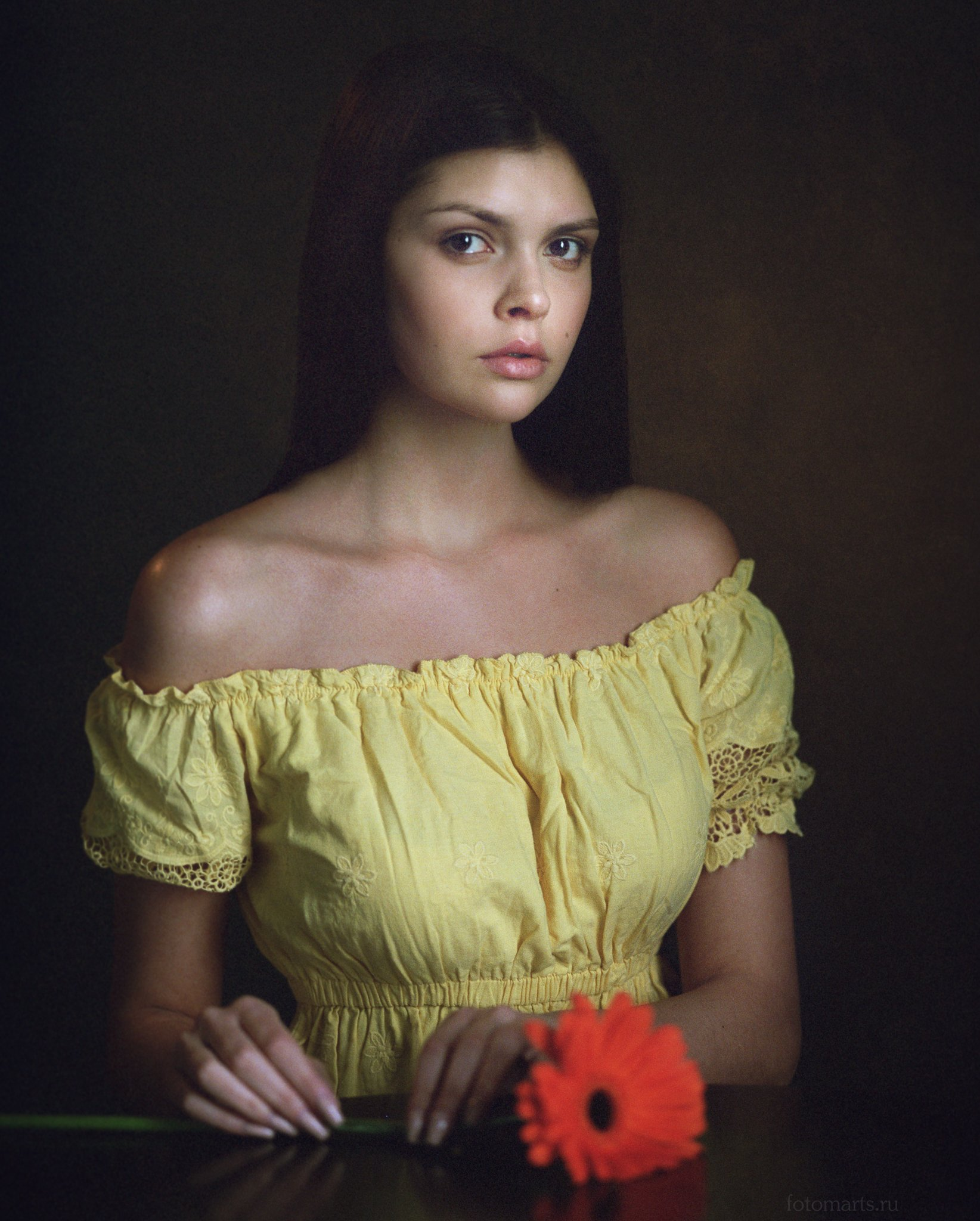 портрет portrait model studio light portra400 film, Сергей Мартынов