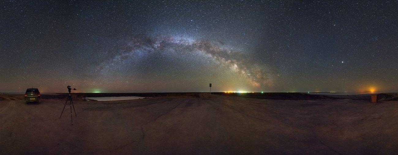млечный путь, эльтон, космос, панорама, Борис Богданов