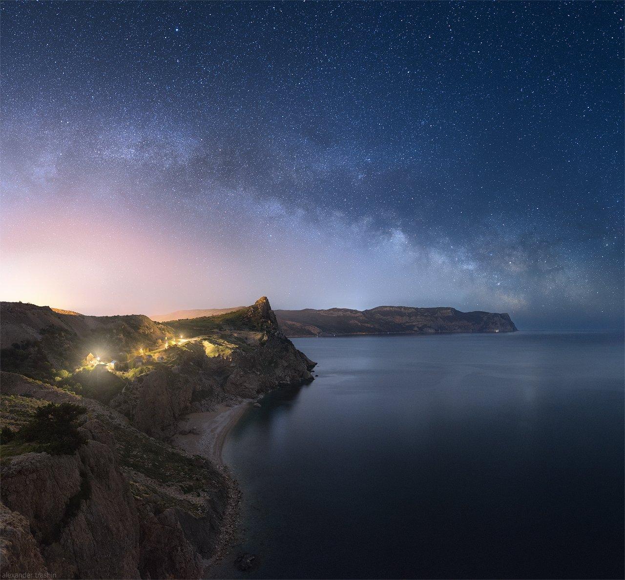 крым, балаклава, ночная фотография, млечный путь, пейзаж, Александр Трашин