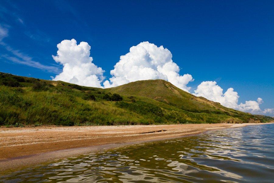 пейзаж, море, лето, небо, облака, Евгений Харланов
