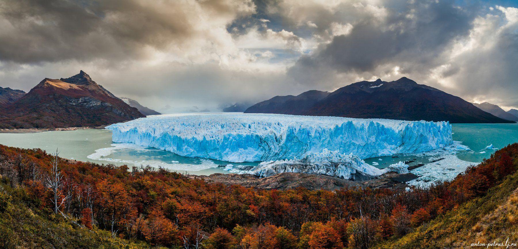 патагония, горы, закат, аргентина, ледник, Антон Петрусь