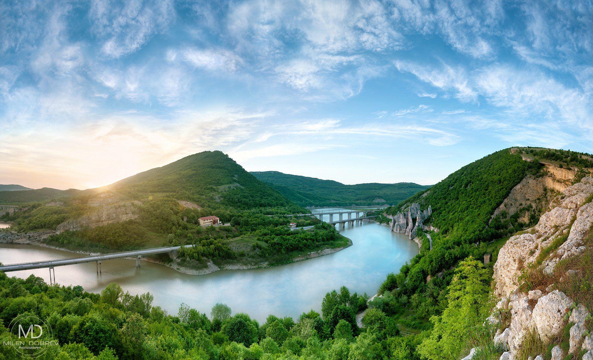 Bulgaria, sunset, landscape, view, spring, scenic, Милен Добрев