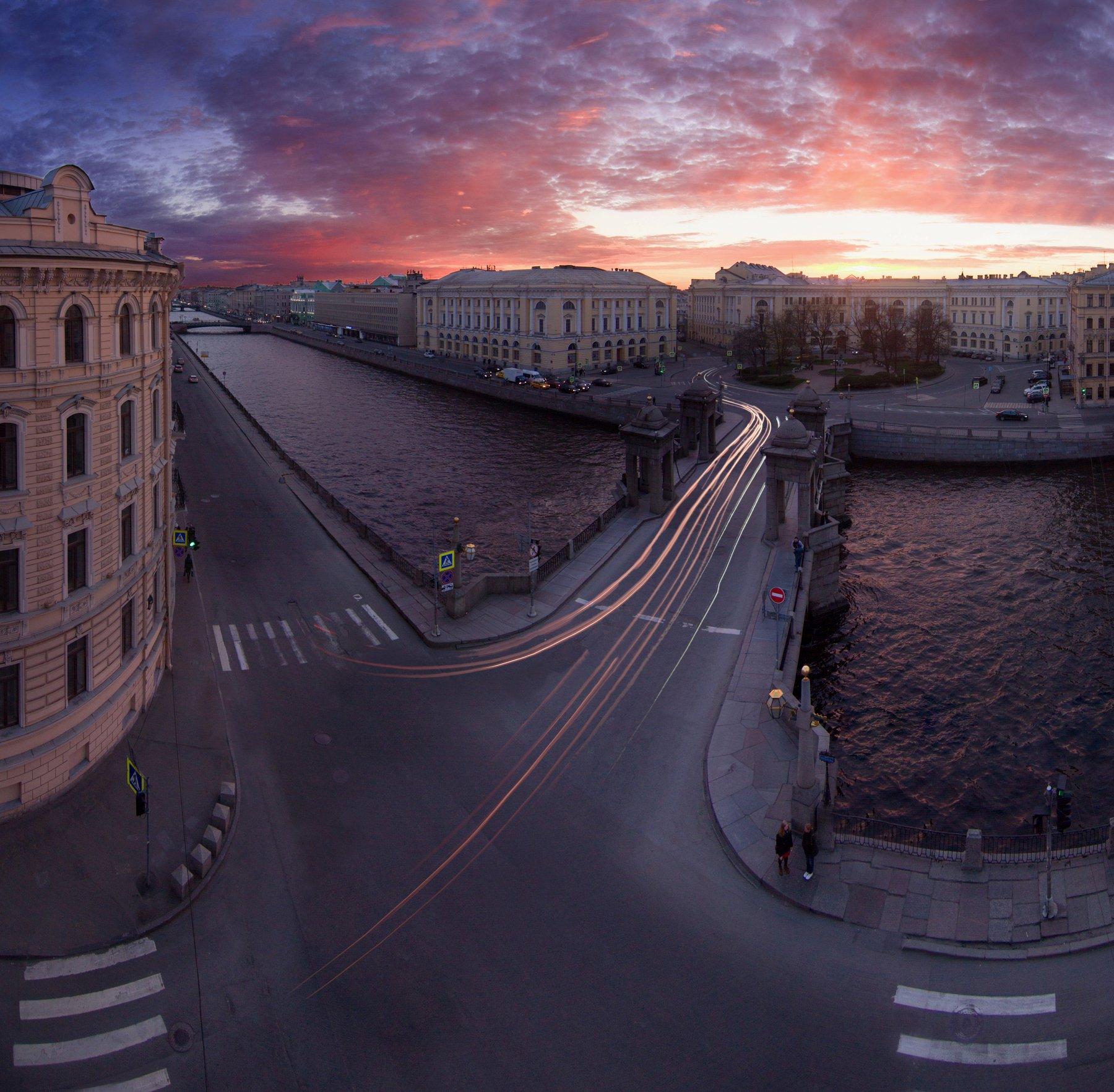 санкт-петербург, российская федерация, город, панорама, закат, Мария Креймер