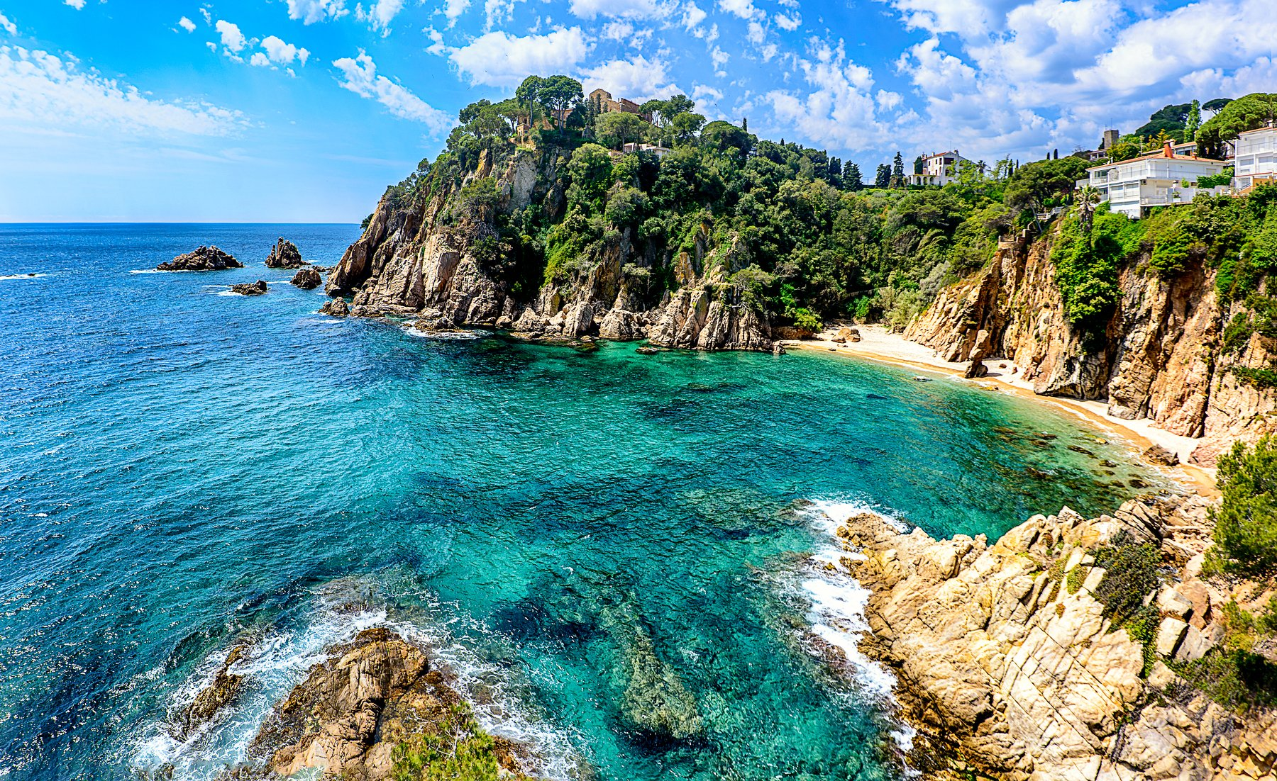 costa brava, costa brava spring, sea , beach, spring, spain, Виктор