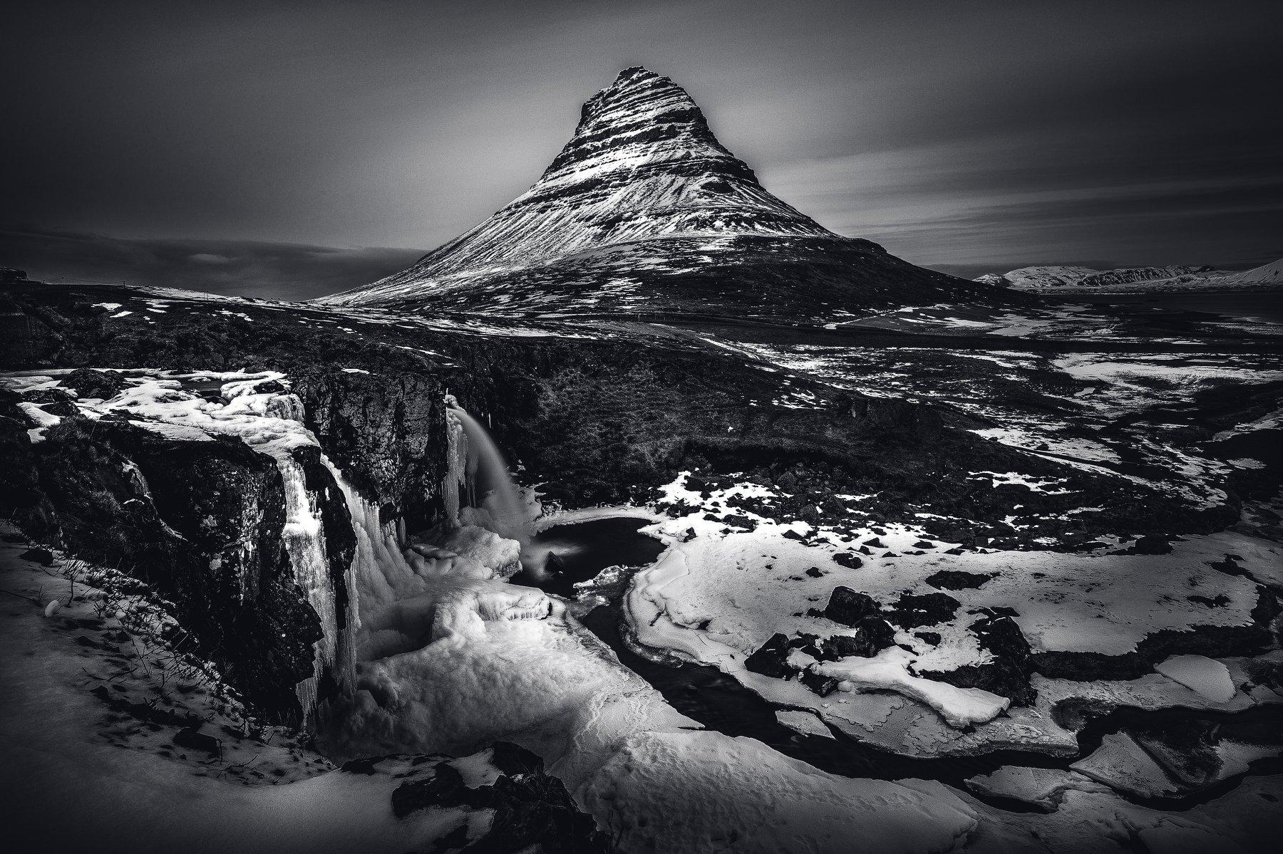 гора снег исландия, Александр Куренной