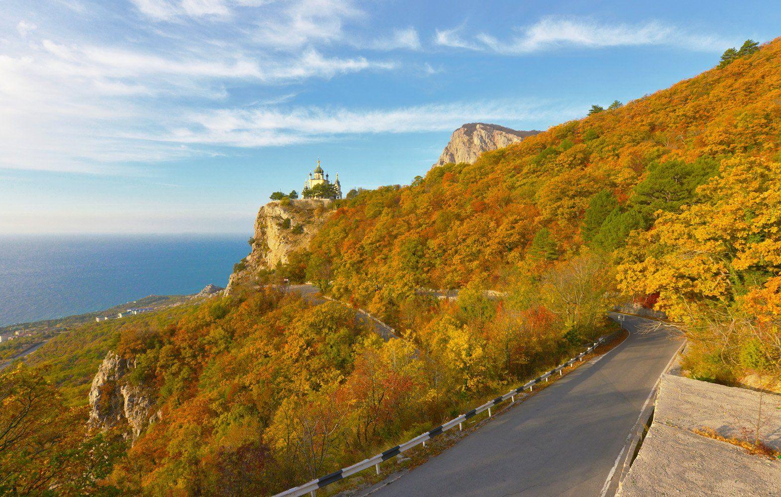 Крым, Форос, церковь, осень, Сергей Седов