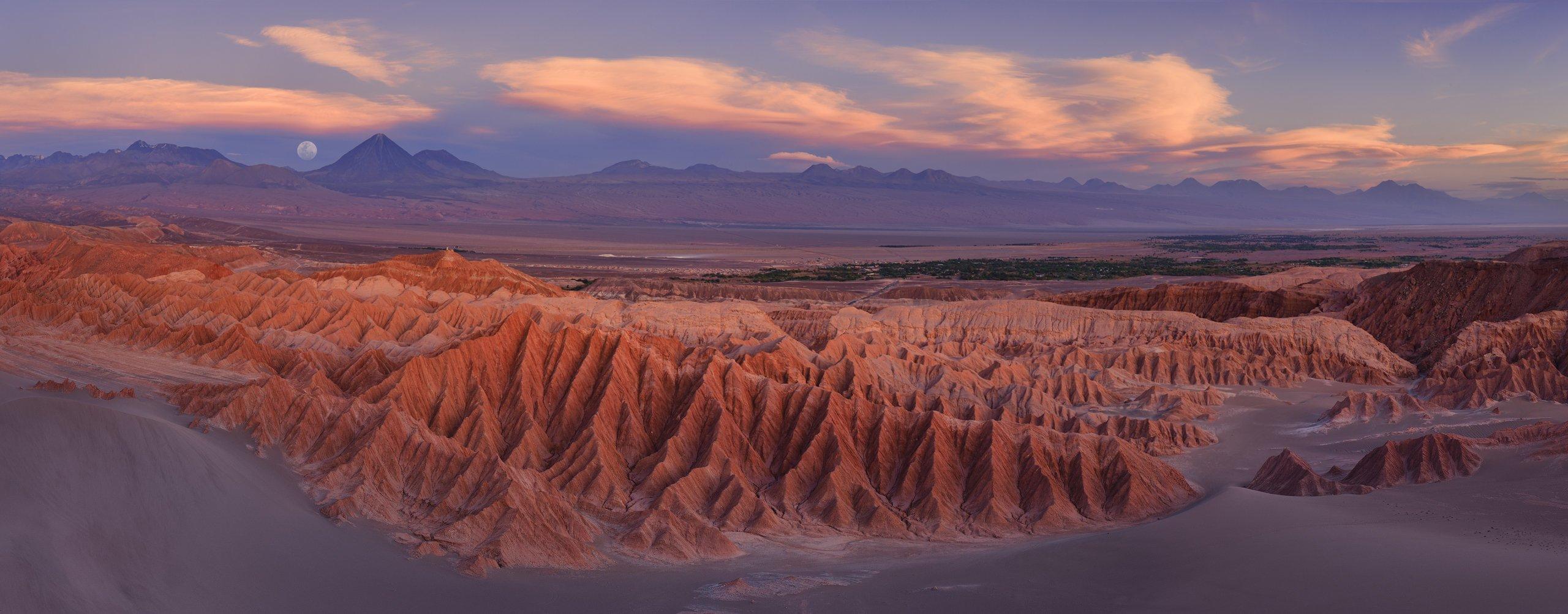 region de antofagasta, san pedro de atacama, scenery, valle de la muerte, valley of the death, view from above, volcano, worldпхотоtravels, arid, aridity, atacama,  badlands, barren, chain, chile, cordillera de la sal, country, death, death valley, desert, Майк Рейфман
