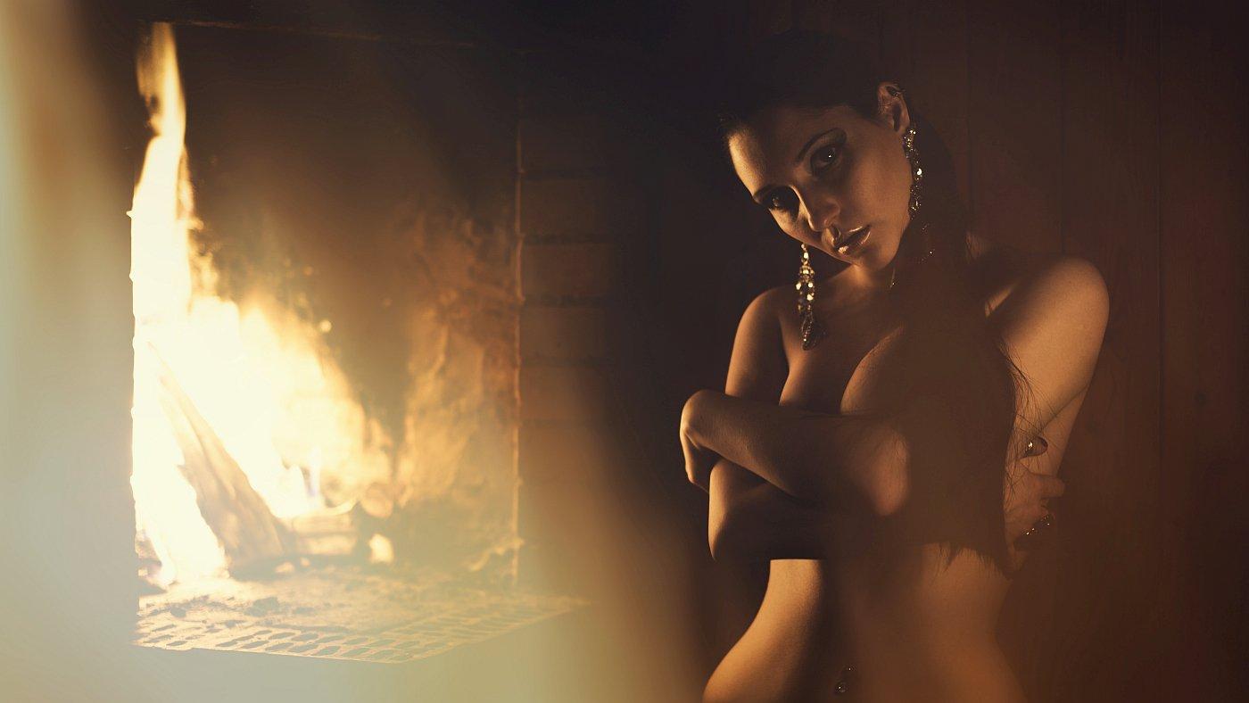 модель, ню, девушка, свет, гламур, фэшн, огонь, портрет, Ефимов Александр