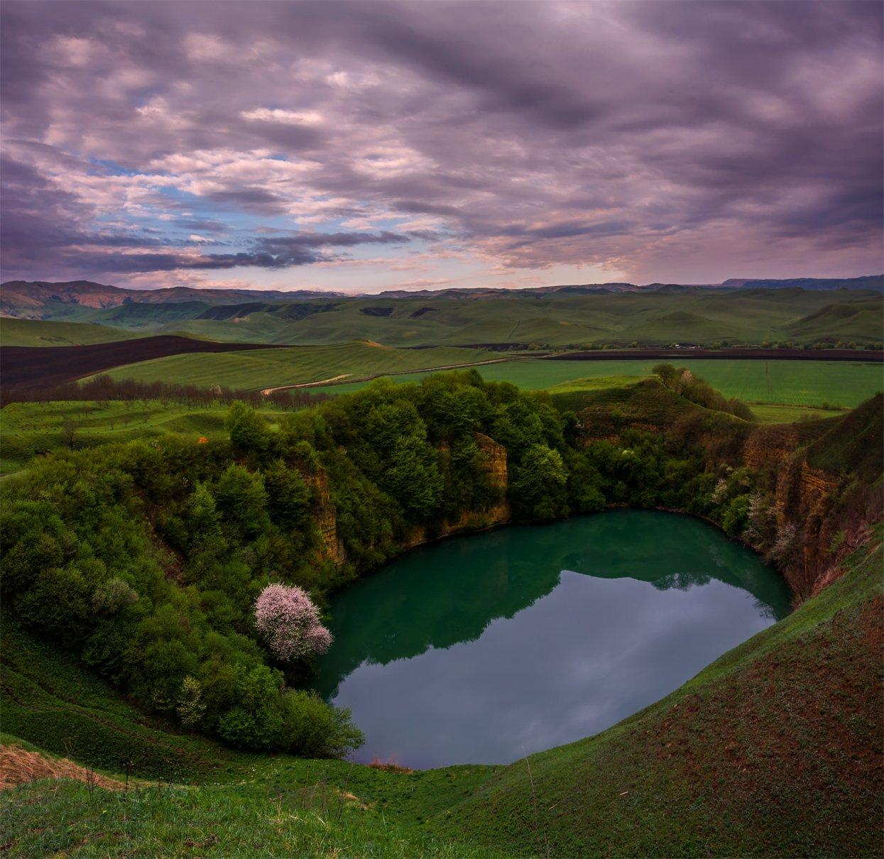 природа, пейзаж, кавказ, горы, весна, озеро,, Альберт Беляев