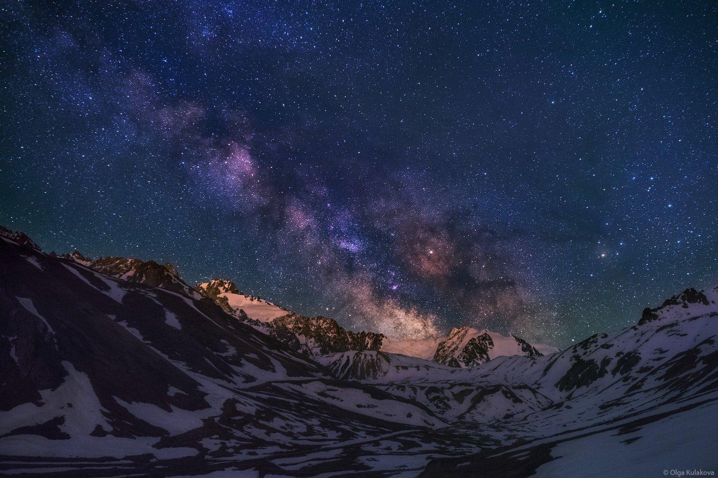 млечный путь, ночь, ночное небо, звездная ночь, туюк-су, ночной пейзаж, Ольга Кулакова