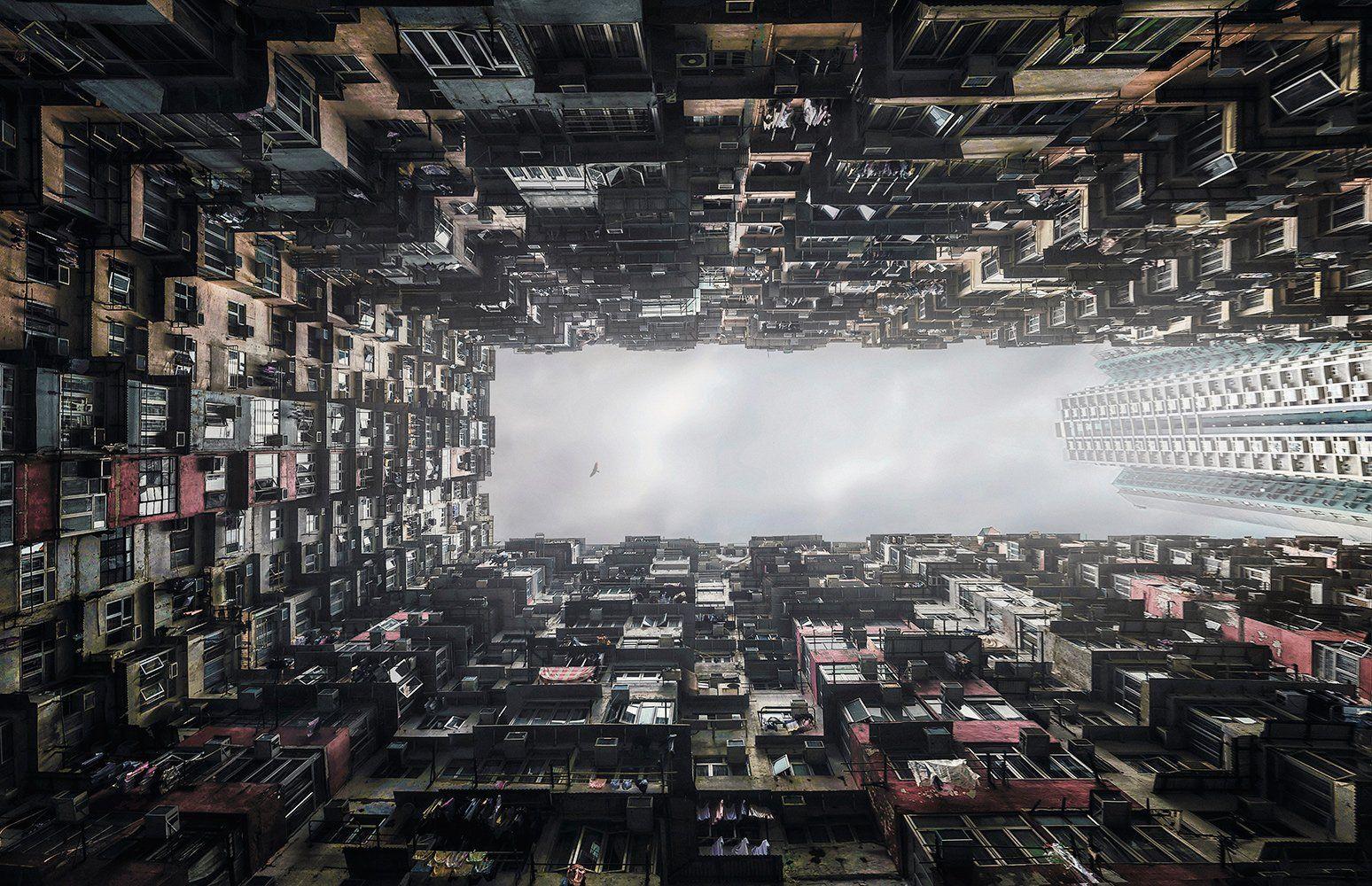 гонконг, город, абстракция, небоскреб, Алексей Ермаков