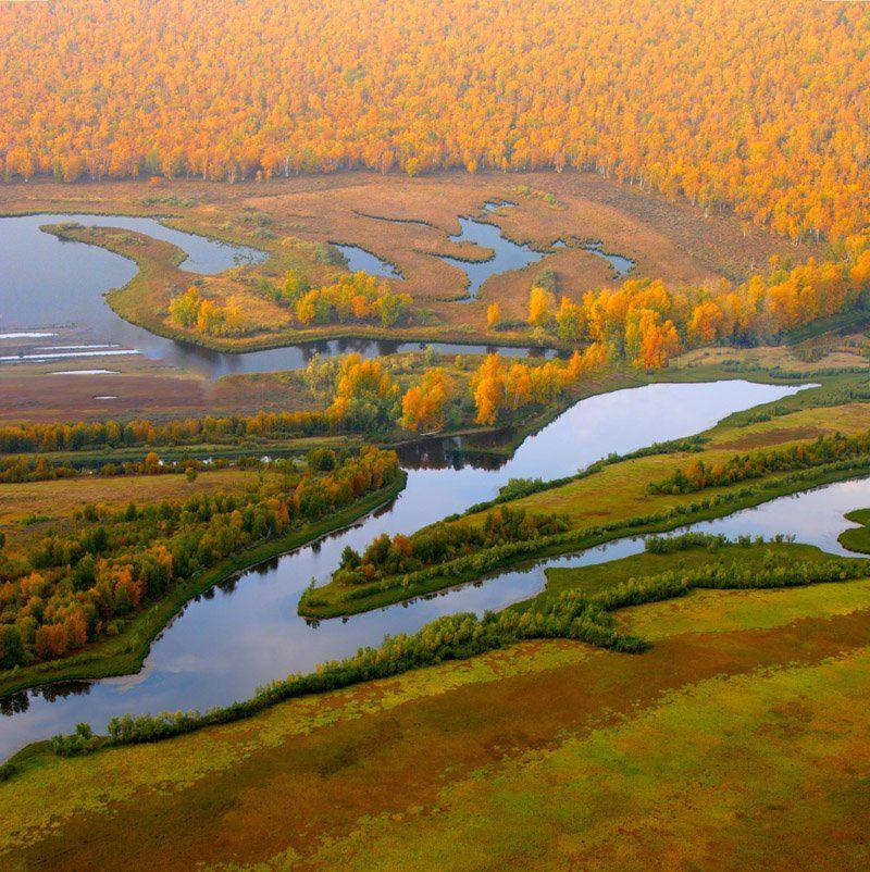 мотопараплан, сибирь, осень., Николай Гынгазов