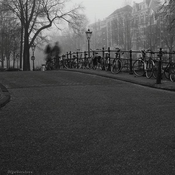 амстердам, город, фото, чб, голландия, Ольга Горелова