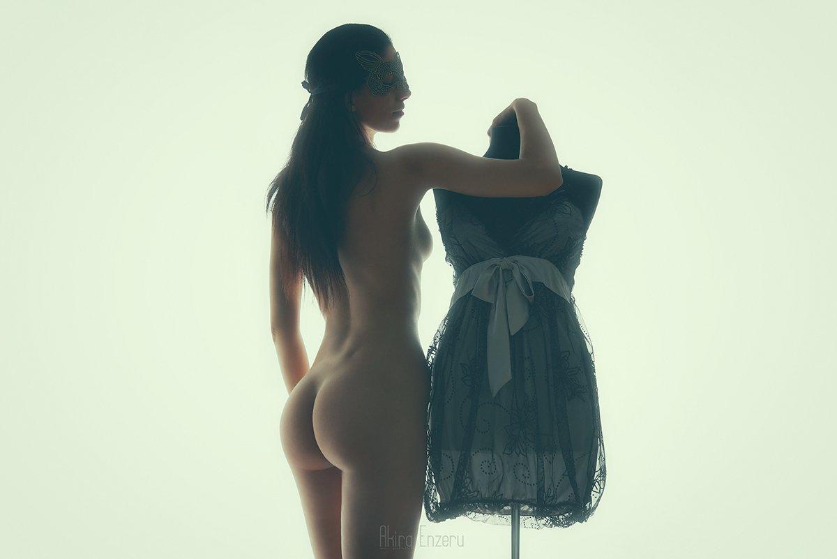 portrait, nude, studio, Akira Enzeru