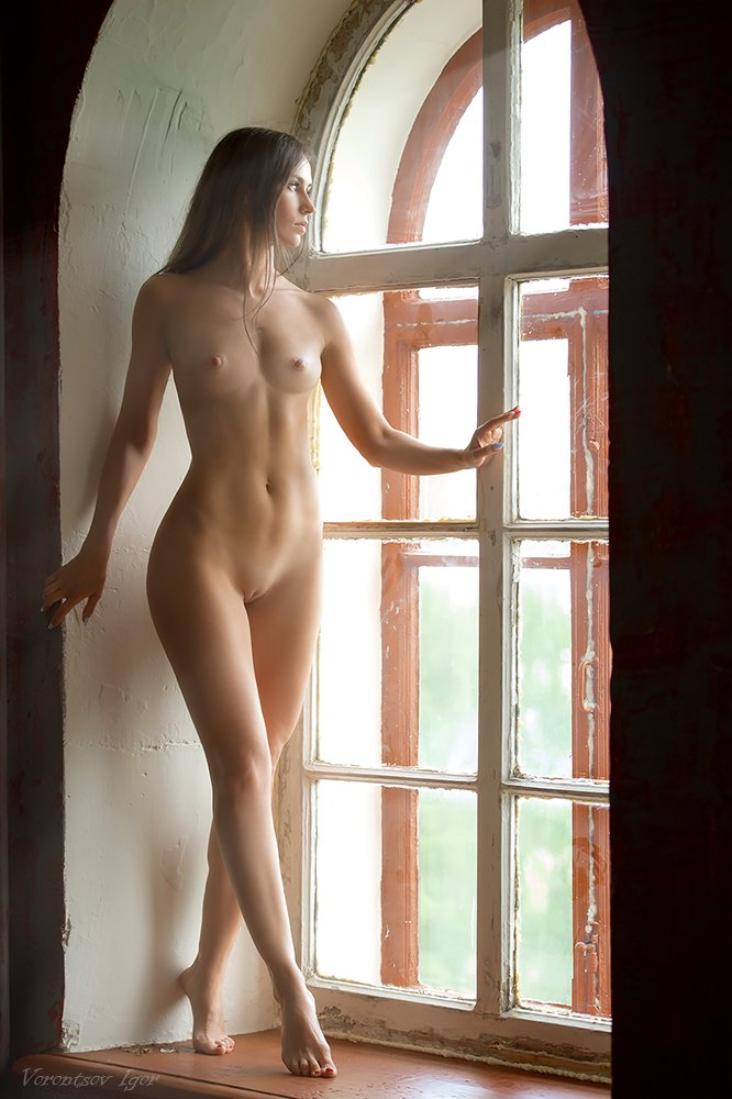 ню, девушки, грудь, обнажённая,окно, Воронцов Игорь