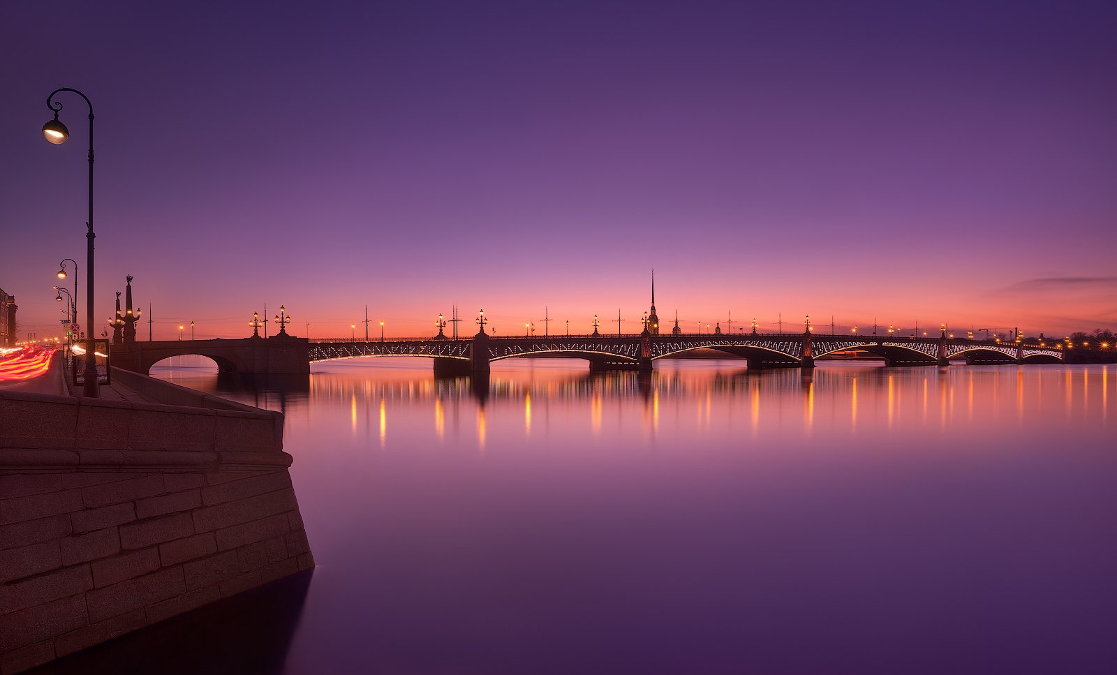 санкт-петербург, вечер, весна, троицкий, мост, закат, Sergey Louks