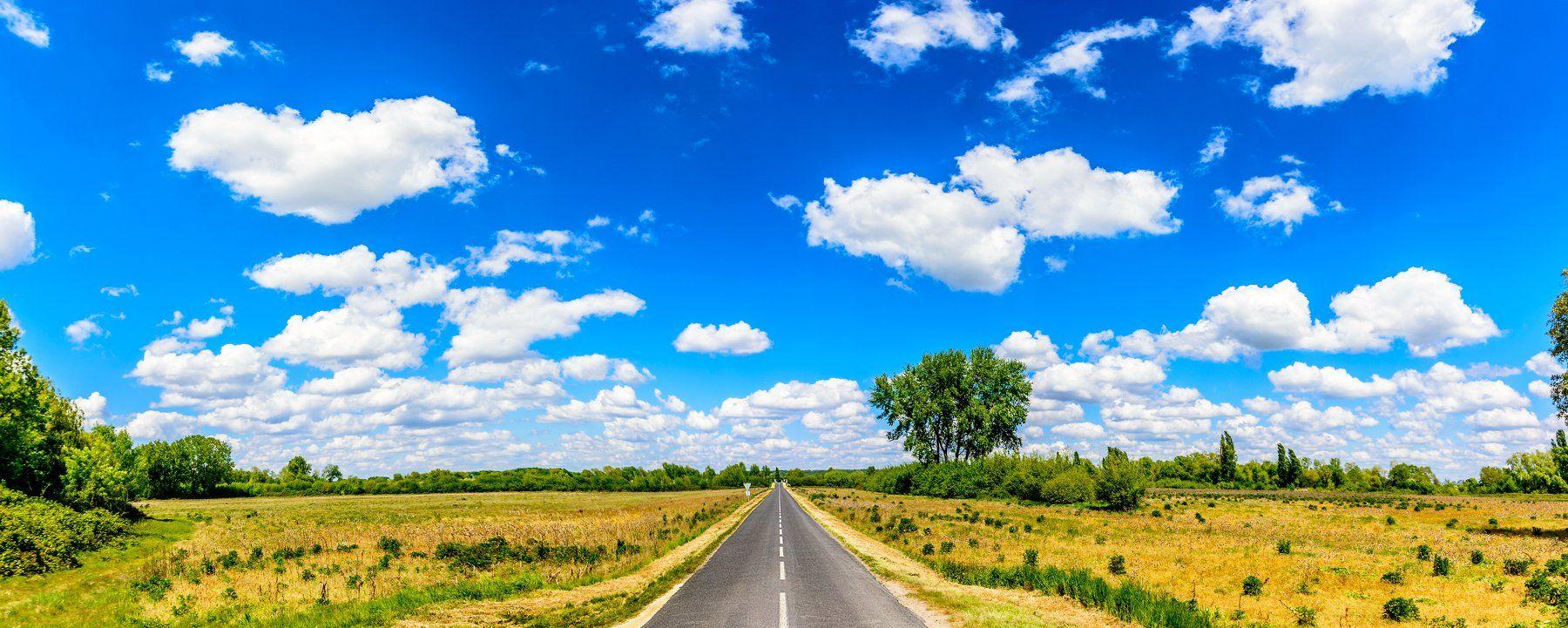 дорога, лето, небо, облака, путешествия, Виктор