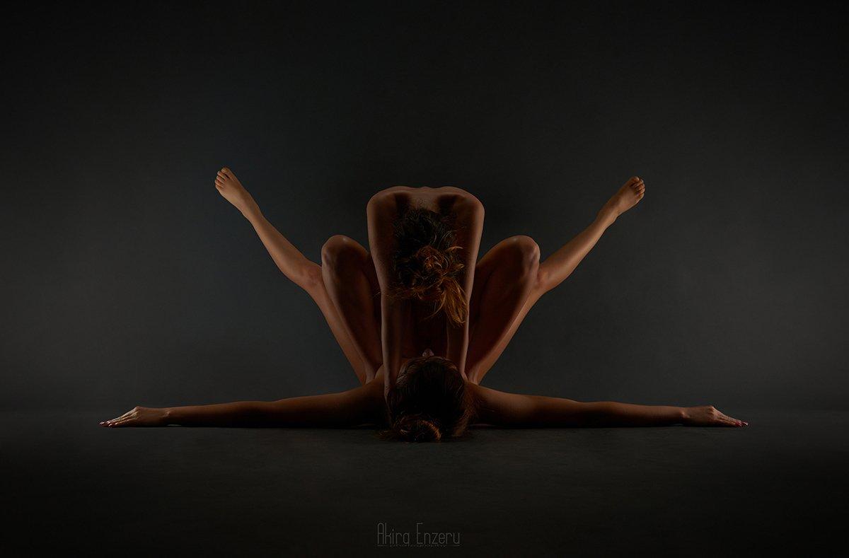 nude, studio, portrait, Akira Enzeru