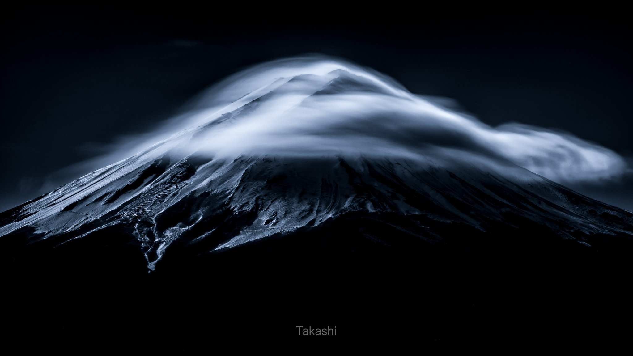 fuji,mountain,cloud,blue,sky,snow,amazing,wonderful,beautiful,, Takashi