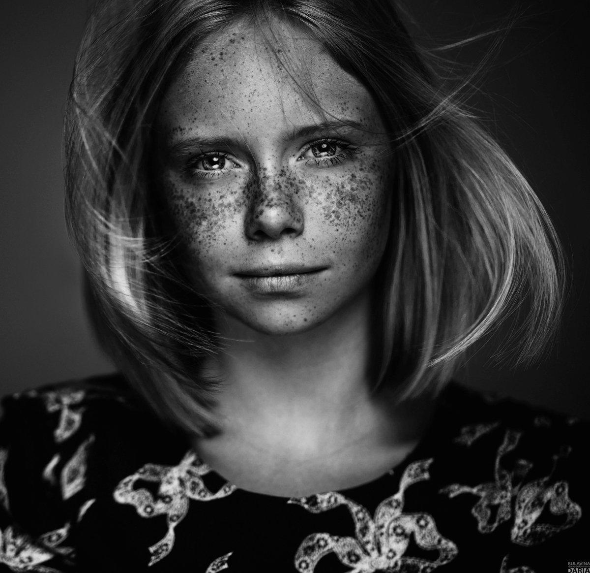 портрет,  булавина, веснушки, Дарья Булавина