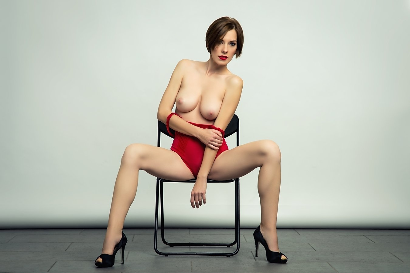 model, nude, naked, glamour, woman, female, color, body, sexy, sensual, curves, portrait, erotica, fine art, legs, red lips, fashion,, Lajos Csáki