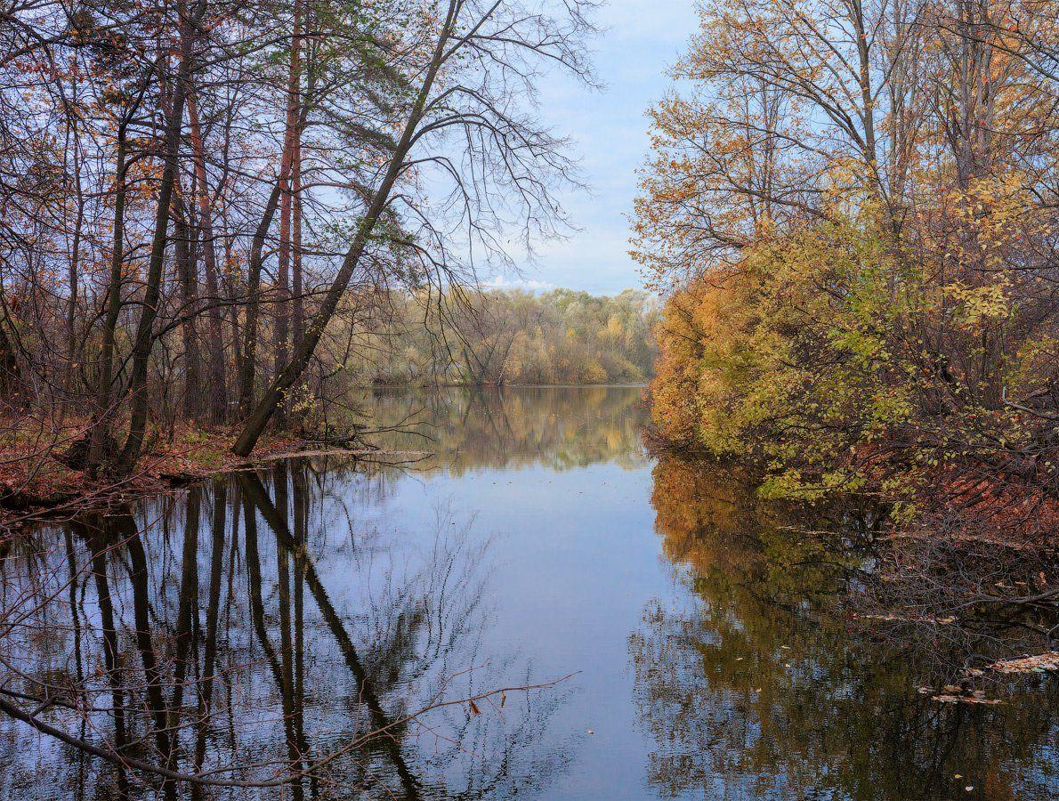 осень, лес, река,, Виктор Климкин