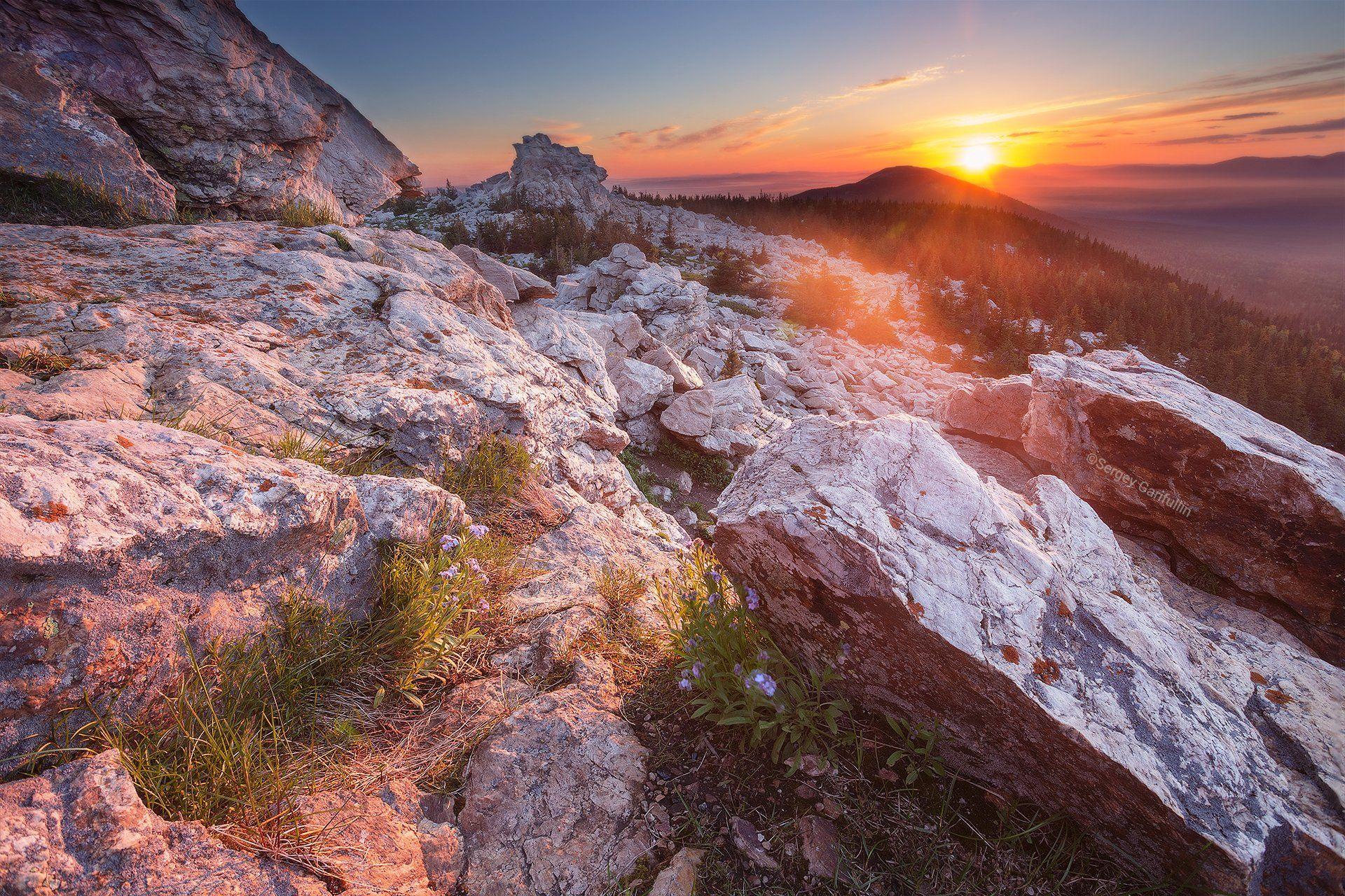 зюраткуль, урал, южный урал, рассвет,  закат, горы, гора, уральские горы, Сергей Гарифуллин