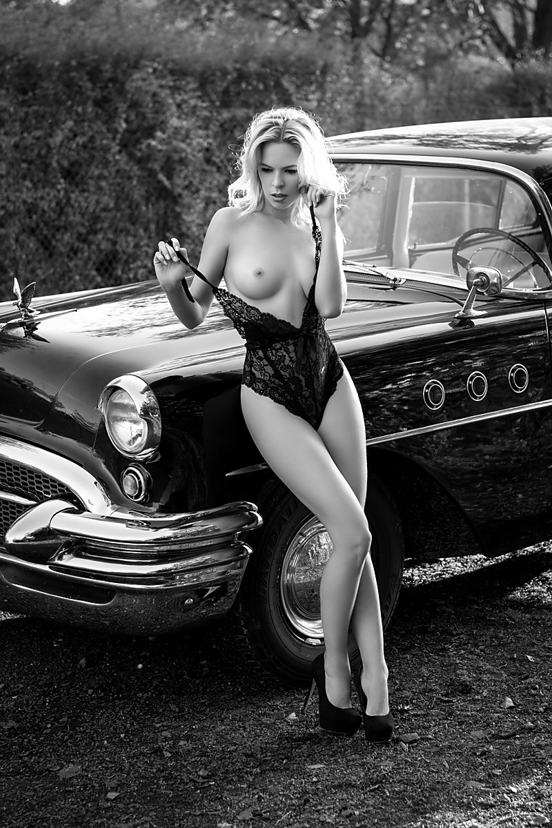 model, nude, naked, glamour, woman, female, black and white, body, sexy, sensual, natural light, curves, portrait, erotica, car, fine art, blondie, fashion, lingerie,, Lajos Csáki
