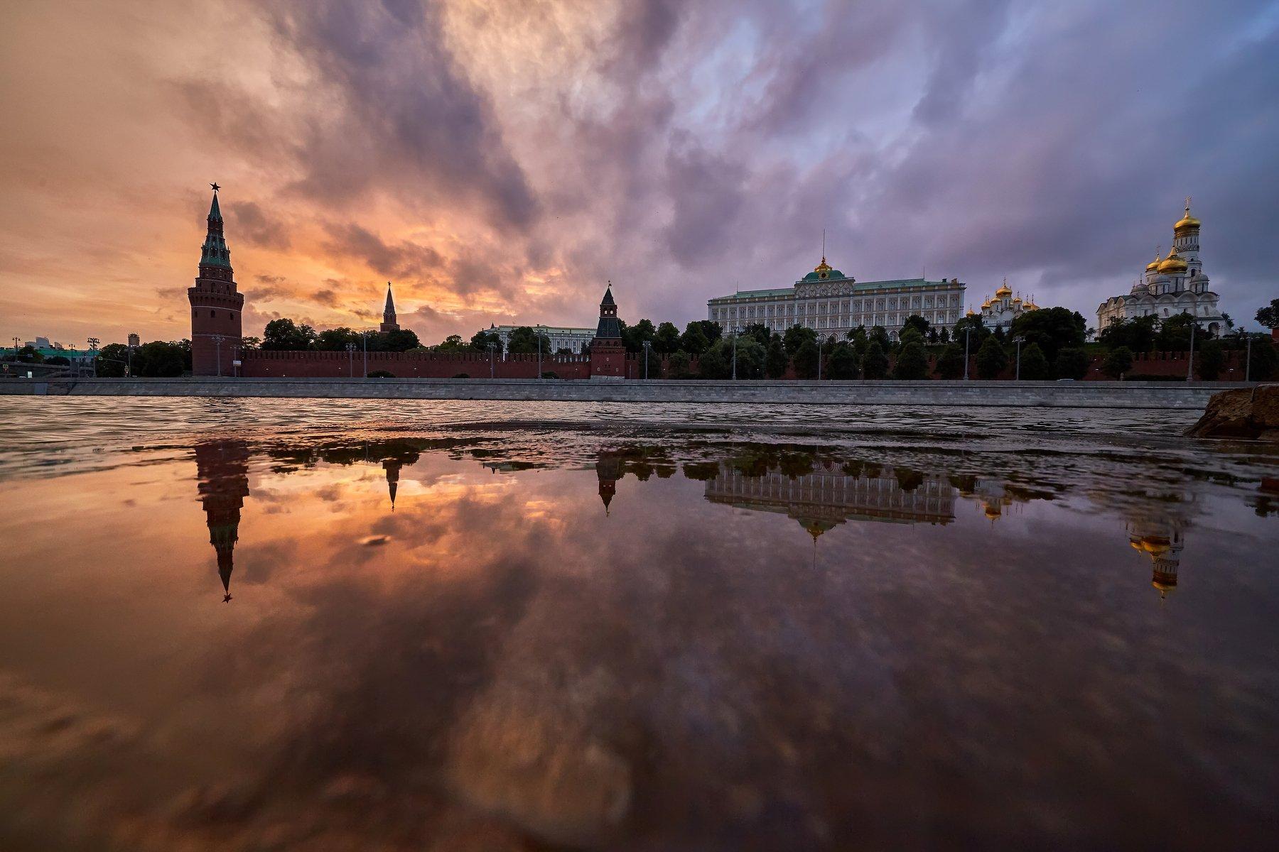 город, Москва, архитектура, закат, небо, облака, тучи, красота , Конев Сергей