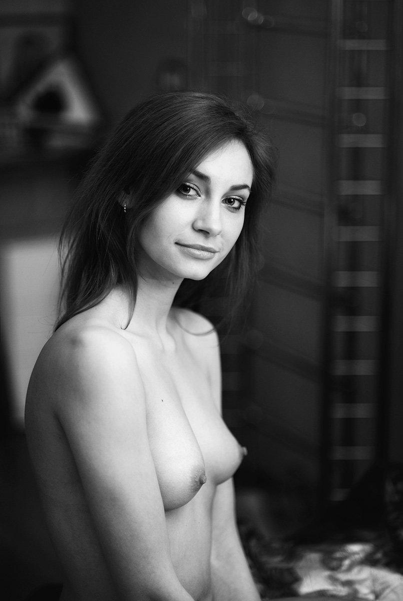 девушка, ню, эротика, портрет, черно-белое, Павел Рыженков