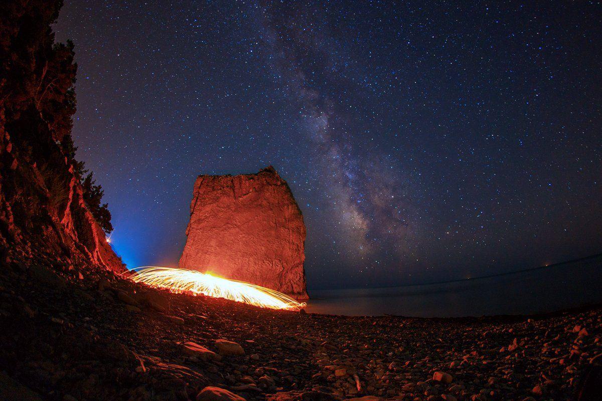ночь, звёзды, млечный путь, Скубский Алексей