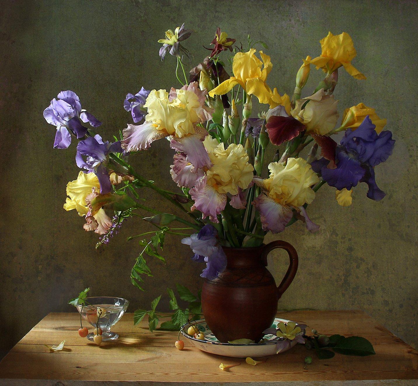 натюрморт, цветы, марина филатова, ирисы, Марина Филатова