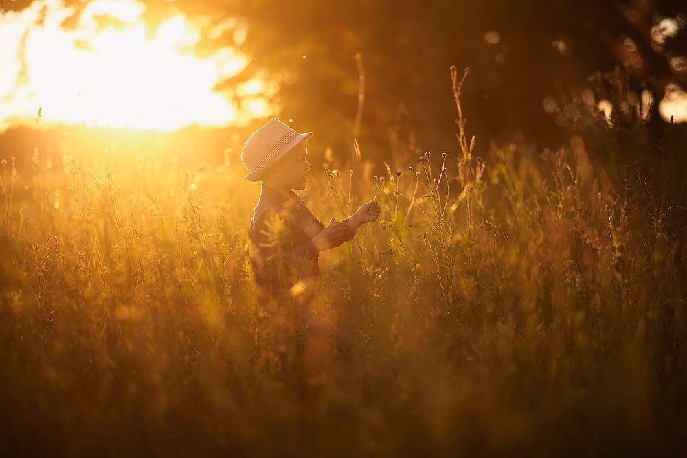 детство закат свет вечер портрет, Aleksandr Kljuchenkow