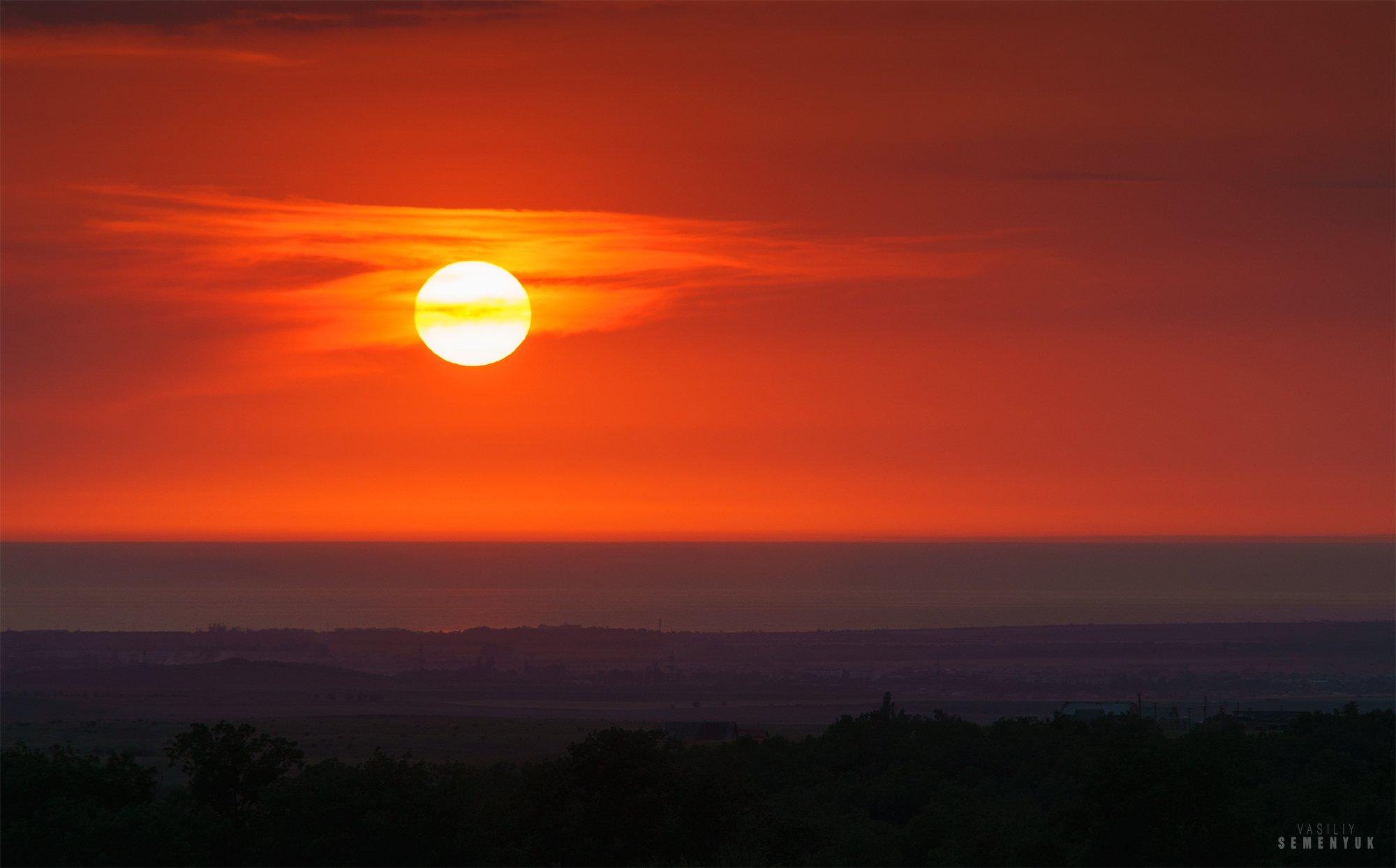 крым, солнце, море, закат, настроение., Семенюк Василий