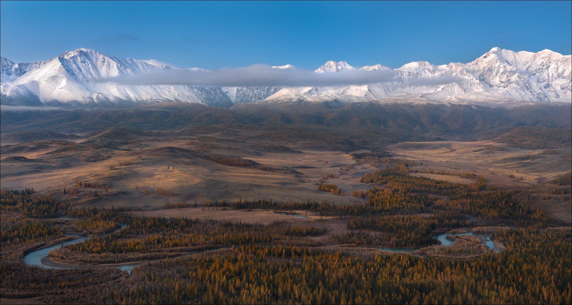 Алтай, осень, Курай, Курайская степь, Чуя, СЧХ, Северо-Чуйский хребет, горы, небо, облака, , Влад Соколовский