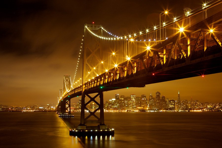 bay, bridge, usa, san francisco, Евгений Васенёв