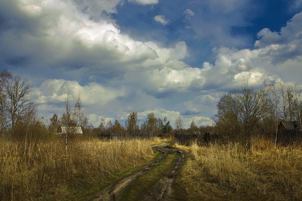 дорога, осень, дачи, Вячеслав