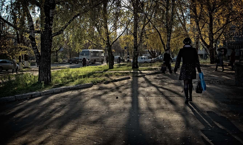 осень, город, листва, жёлтая, прошлое лето