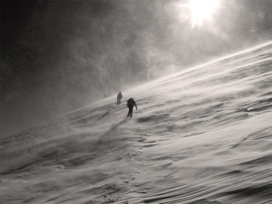 горы, люди, подъем, пик ленина., Жаров Андрей