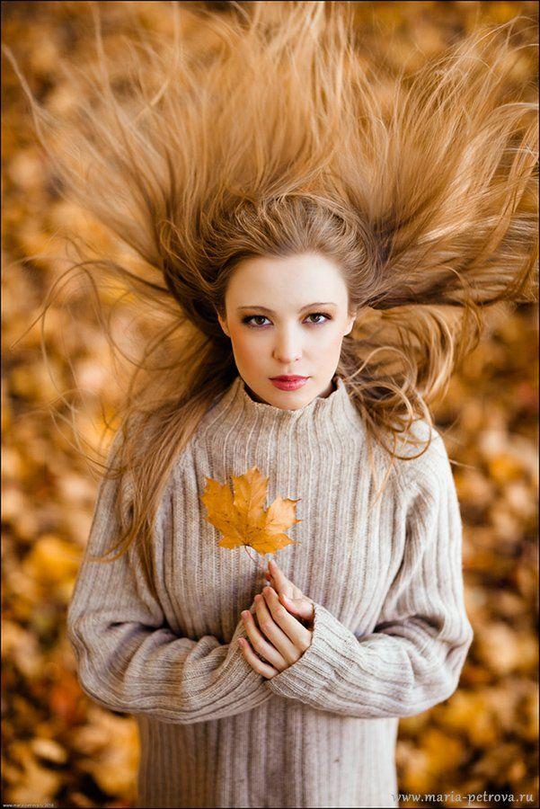 портрет, девушка, осень, Петрова Мария