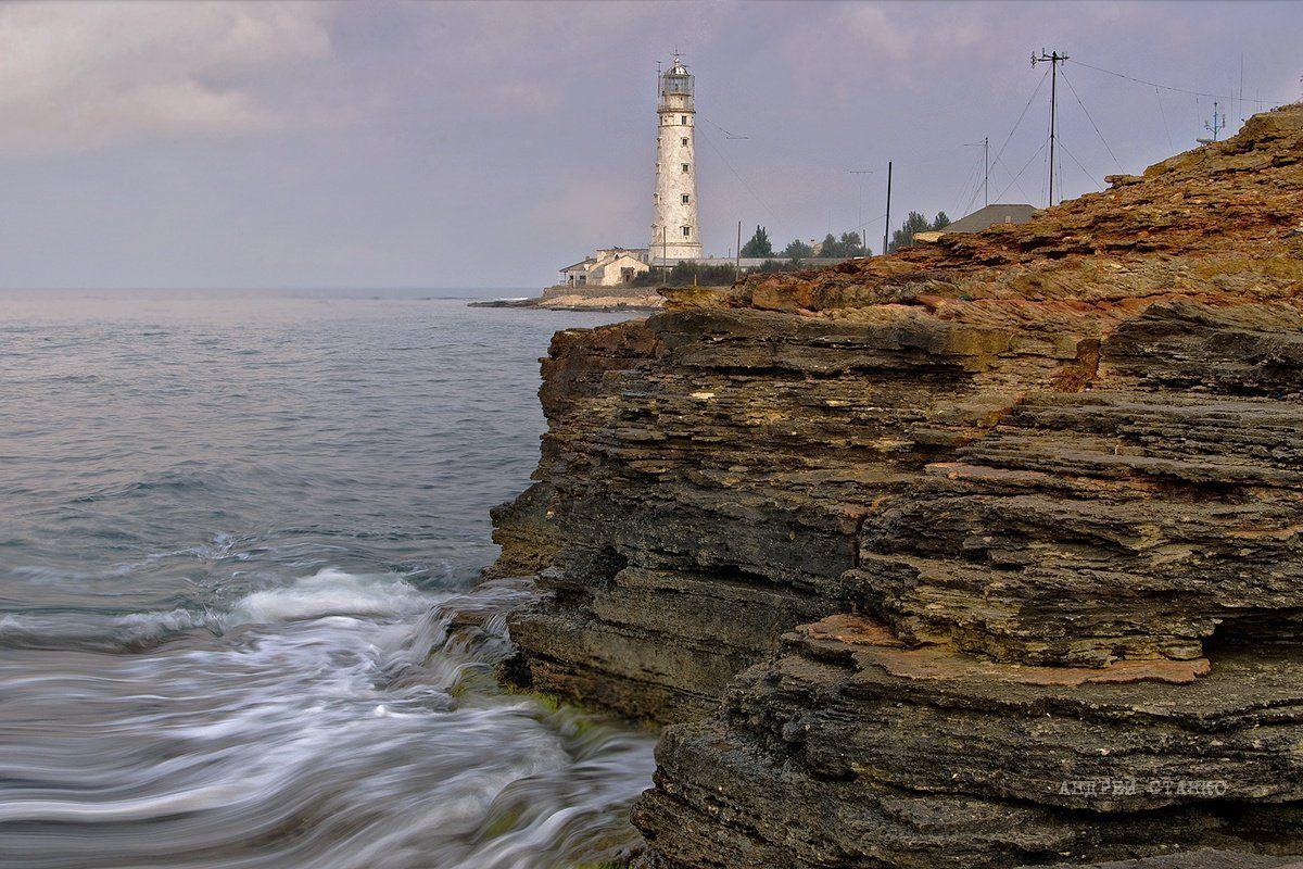 станко, пейзаж, тарханкут, море, маяк, Андрей Станко