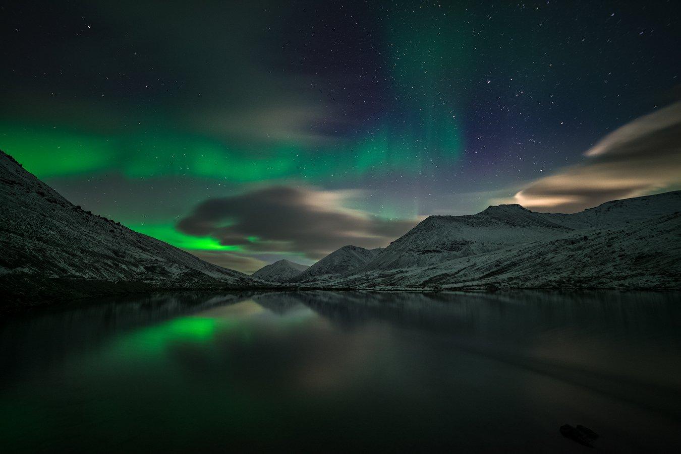 aurora borealis, северное сияние,хибины,север,кольский,заполярье,, Роман Горячий