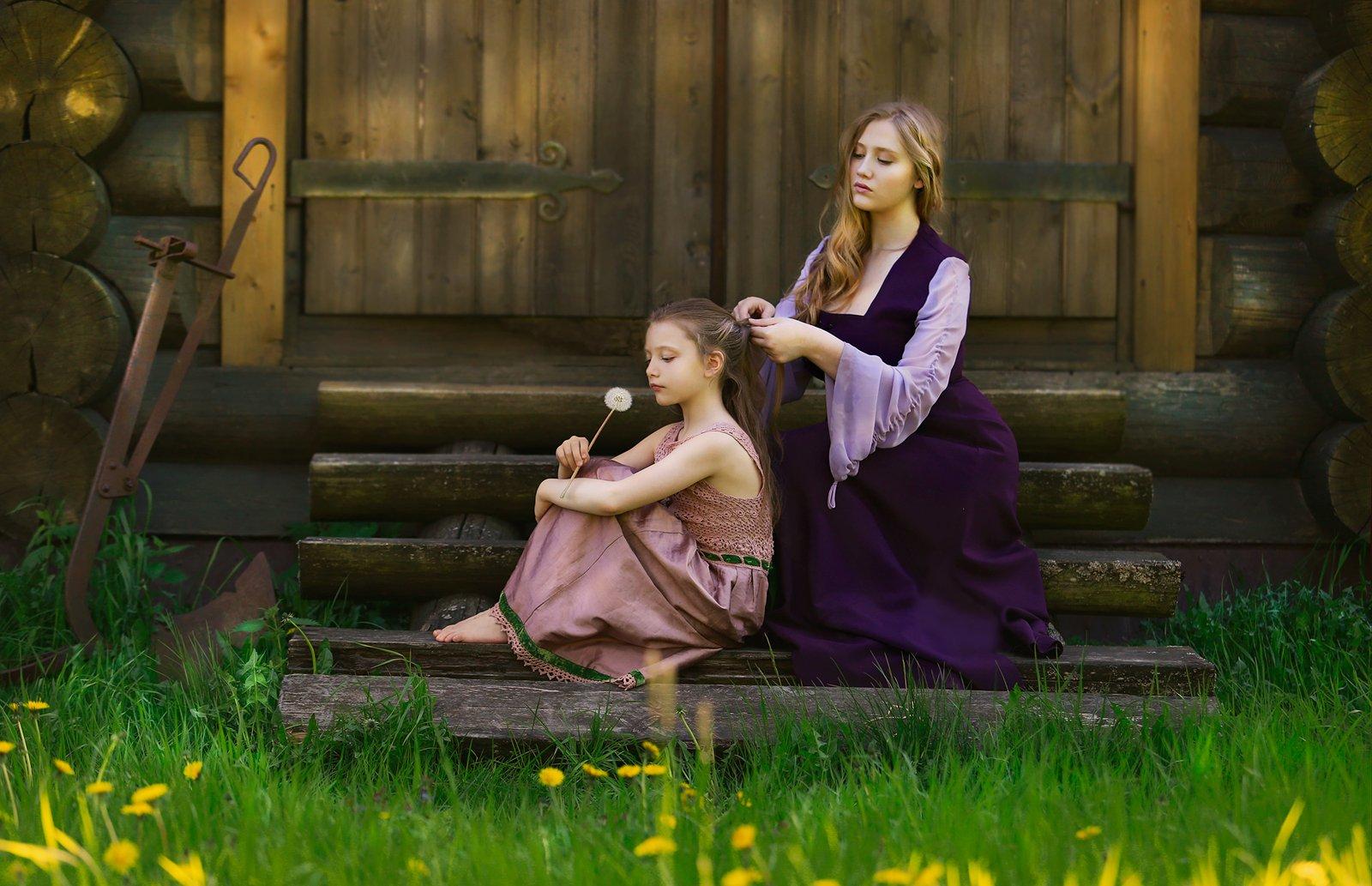 девушка, девочка, красота, природа, портрет, свет, цвет, мгновение, момент, платье, блондинка, жанр, жанровый портрет, истории из детсва, Постонен Екатерина