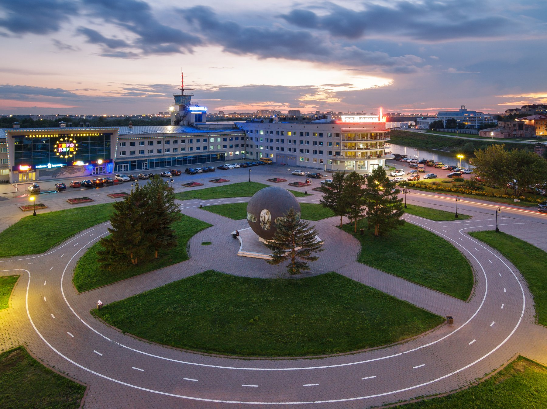 Омск, город, крыша, закат, urban exploration, пейзаж, Голубев Алексей