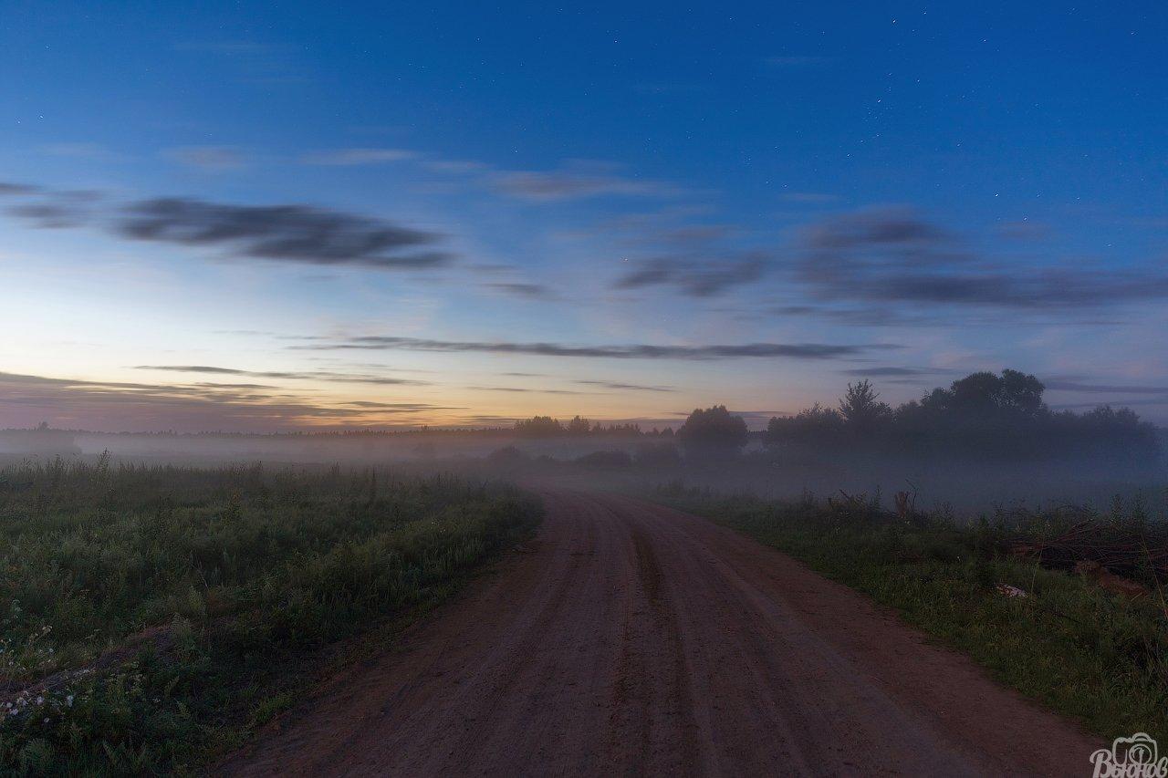 туман,пейзаж,подмосковье,раменье,дмитров, Вьюнов Сергей