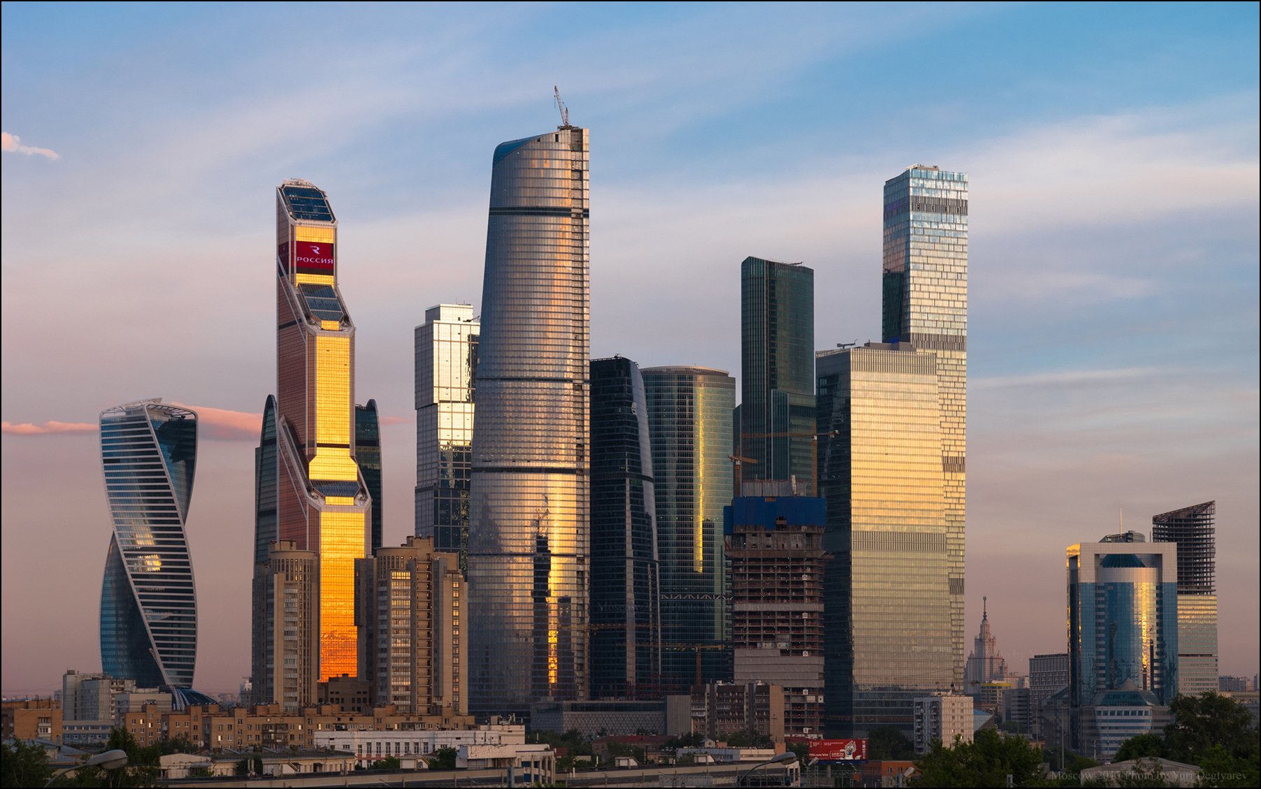 город, Москва, Сити, высотки, небоскребы, Юрий Дегтярёв