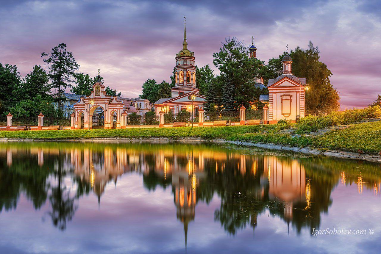 алтуфьево, крестовоздвиженский храм, москва, вечер, Соболев Игорь