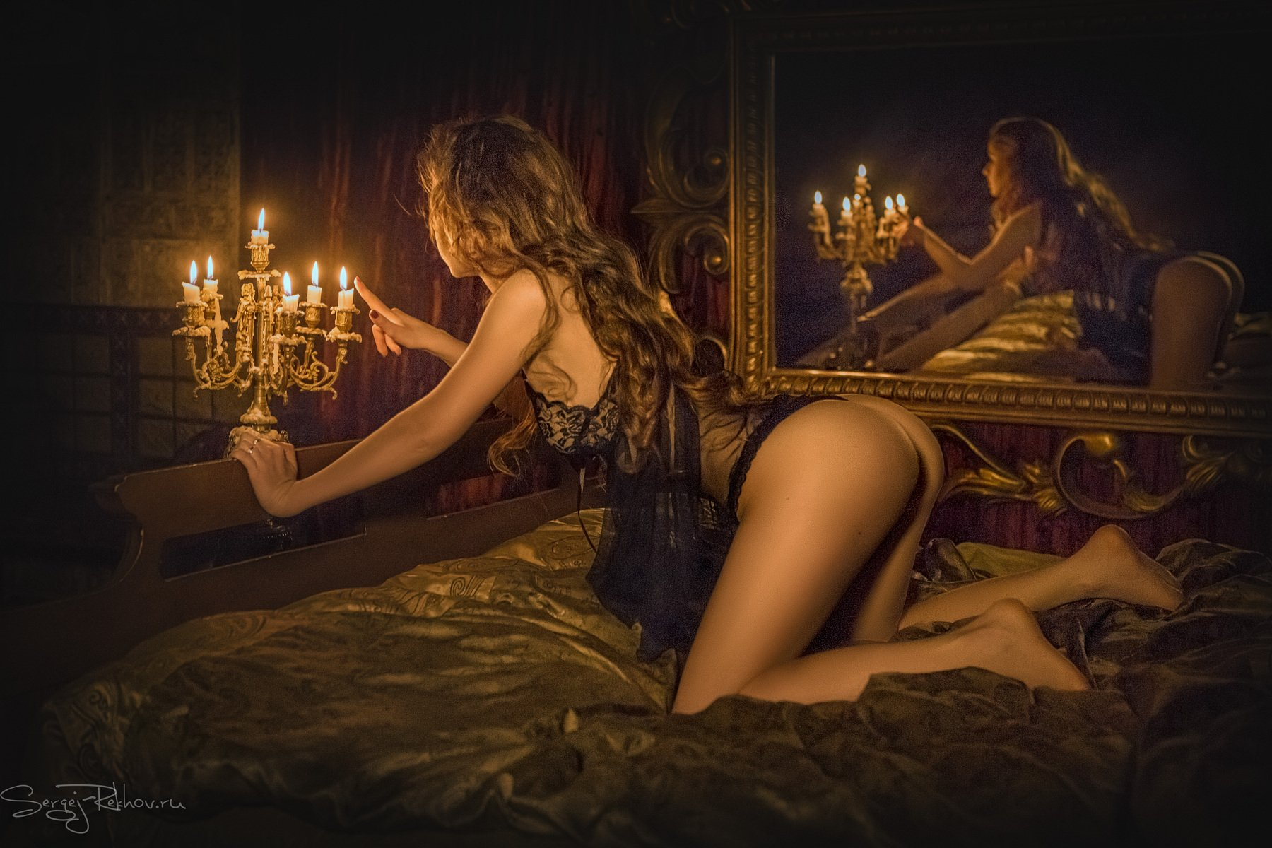 девушка, студия, красота, свеча, рехов, сергейрехов, Сергей Рехов