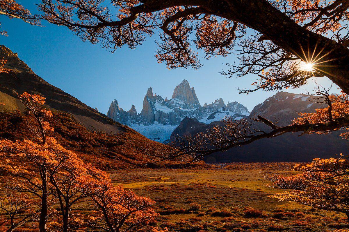 патагония, горы, закат, аргентина,, Антон Петрусь